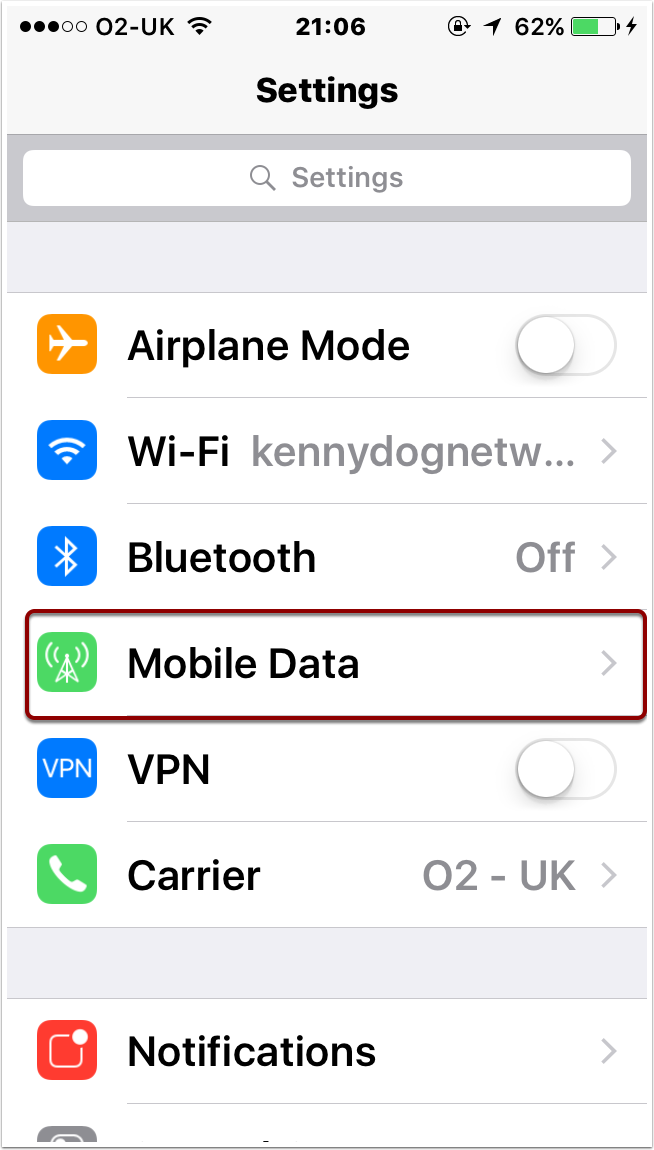 Choose Mobile Data